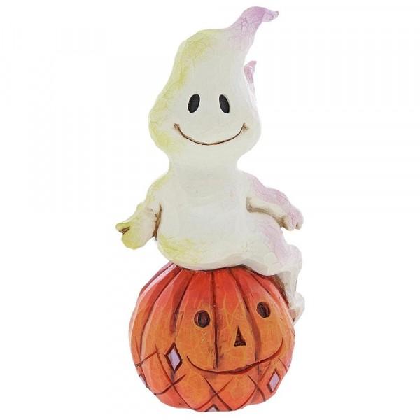 Heartwood Creek, Jim Shore, Ghost & Pumpkin, Mini Geist auf Kürbis, Halloween
