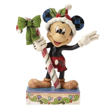 Disney Traditions, Jim Shore - Sweet Greetings Mickey Mouse - Micky Maus mit Zuckerstange