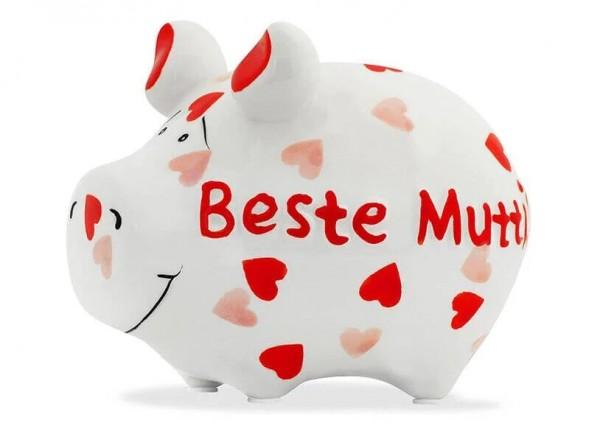 KCG Sparschweine, Best of Sparschwein, das Markenschwein, Kleinschwein, Sparschwein, Spardose, Sparbüchse, Wir sind das Schwein, Sparschwein Beste Mutti, 101555, Geldgeschenk
