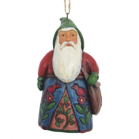 Heartwood Creek, Jim Shore, Folklore Santa with Bag Ornament, Weihnachtsmann, Anhänger