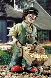 Florian der Gärtner mit Katze