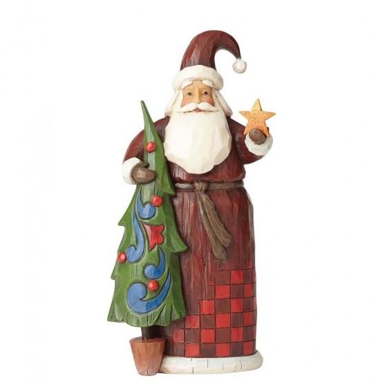 Heartwood Creek, Jim Shore, Folklore Santa with Tree, Weihnachtsmann mit Baum, Stern