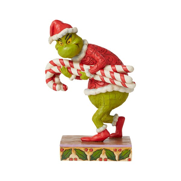 Jim Shore, Heartwood Creek, The Grinch Collection, Grinch, Grinch Stealing Candy Canes, Grinch stiehlt Zuckerstangen, 6008888, The Grinch by Jim Shore, Dr. Seuss