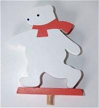 Eisbär, rot für Kerzenring groß