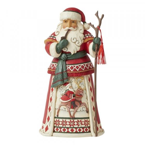 14th Lapland Santa with Reindeer Scene / Lapland Weihnachtsmann