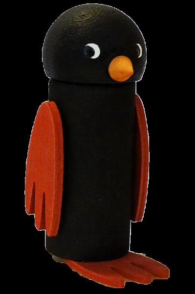 Sebastian Design, Candlering, Kerzenring, Kerzenringe, Skandinavischer Holzkranz, Skandinavische Kerzenringe, Vogel schwarz, großer Vogel in schwarz, 10-191