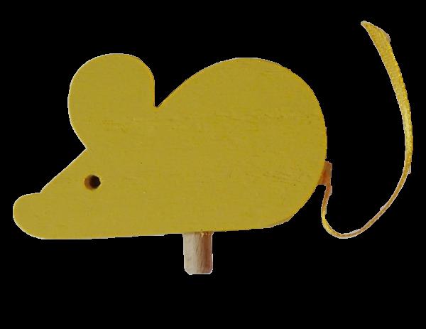 Sebastian Design, Candlering, Kerzenring, Kerzeringe, Holzkränze, Skandinavischer Holzkranz, Skandinavische Kerzenringe, Maus in gelb