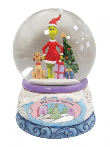 Jim Shore, Heartwood Creek, The Grinch Collection, Grinch, Grinch Schneekugel, Grinch Waterball, 6008892, The Grinch by Jim Shore, Dr. Seuss
