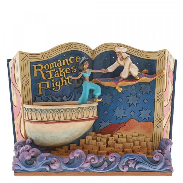 Disney Traditions, Jim Shore - Romance Takes Flight Storybook - Aladdin