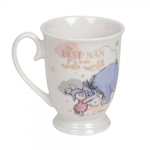 Disney, Walt Disney, Widdop and Co, Disney Magical Beginnings, Winnie Pooh Mug, Winnie Puuh Becher, Eeyore Mug, Piglet Mug, Best Nan in the whole world, DI700, Muttertag