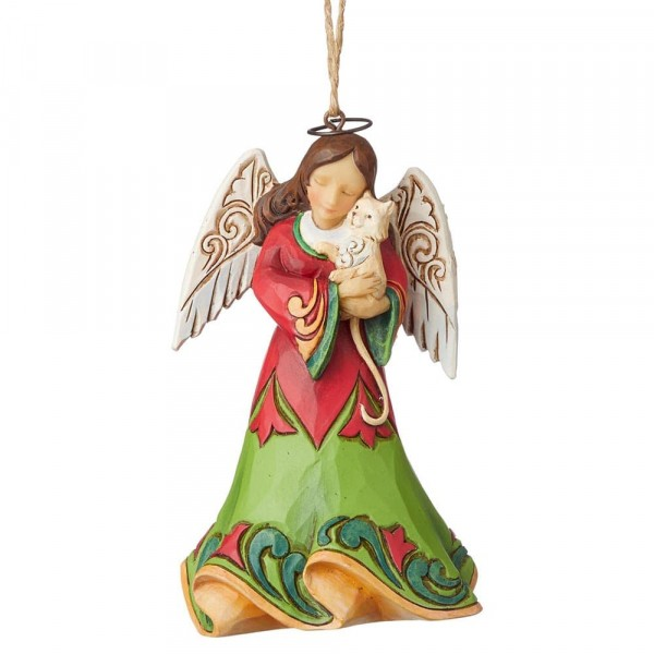 Angel with Cat / Engel mit Katze Ornament