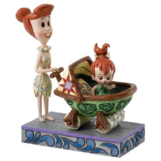 Bedrock Buggy (Wilma mit Pebbles)
