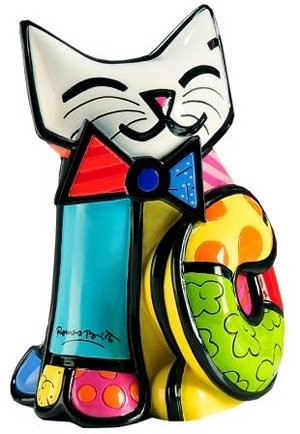 Romero Britto Pop Art aus Miami - Fun Cat