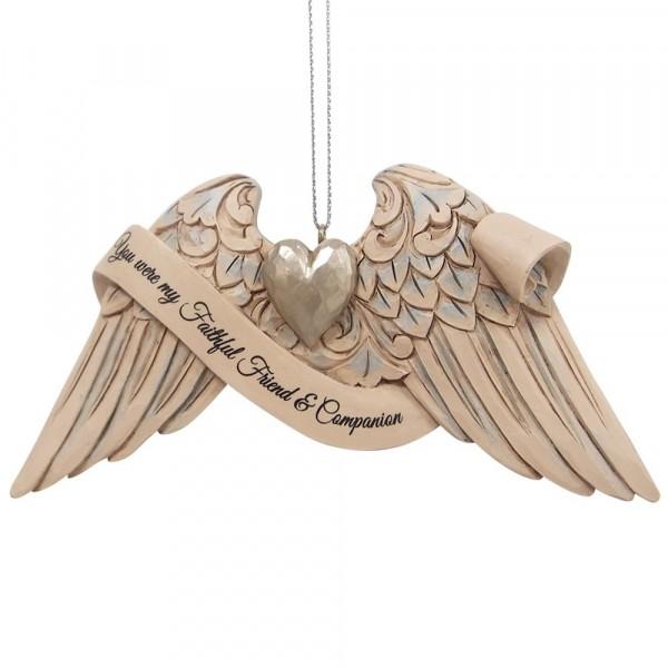 Jim Shore, Heartwood Creek, 6009572, Jim Shore Guardian Angel Wings Pet Bereavement, Engelsflügel Haustier, Volkskunst, Jim Shore Engel