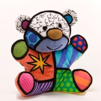 Romero Britto Pop Art aus Miami - Musical Festive Bear Plush / Plüsch Spieluhr Bär