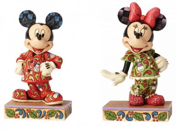 Disney Traditions, Jim Shore, Magical Morning, Comfort and Joy, Mickey und Minnie im Schlafanzug