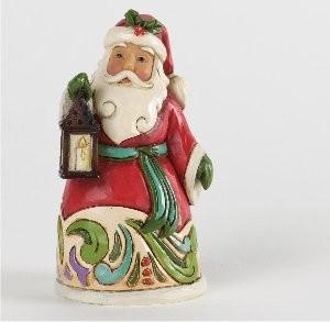 Heartwood Creek, Jim Shore, Mini Santa with Lantern, Weihnachtsmann mit Laterne