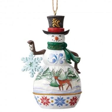 Heartwood Creek, Jim Shore, Snowman with Snowflake Ornament, Schneemann mit Schneeflocke, Anhänger