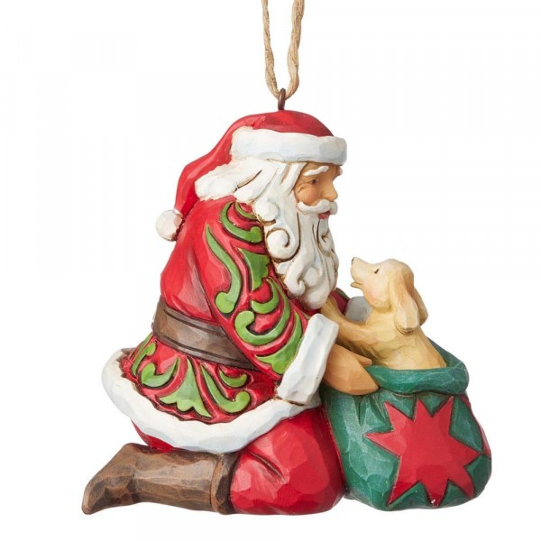 Santa with Dog Ornament / Weihnachtsmann mit Hund