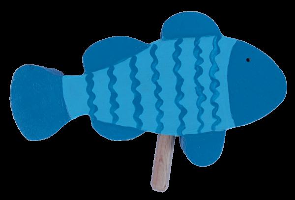 Sebastian Design, Kerzenring, Kerzenringe, Candle Ring, Candlerings, Holzkranz, Steckfigur, Fisch, helles türkisblau