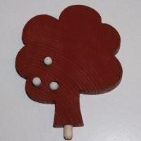 Baum für Kerzenring groß, rostrot