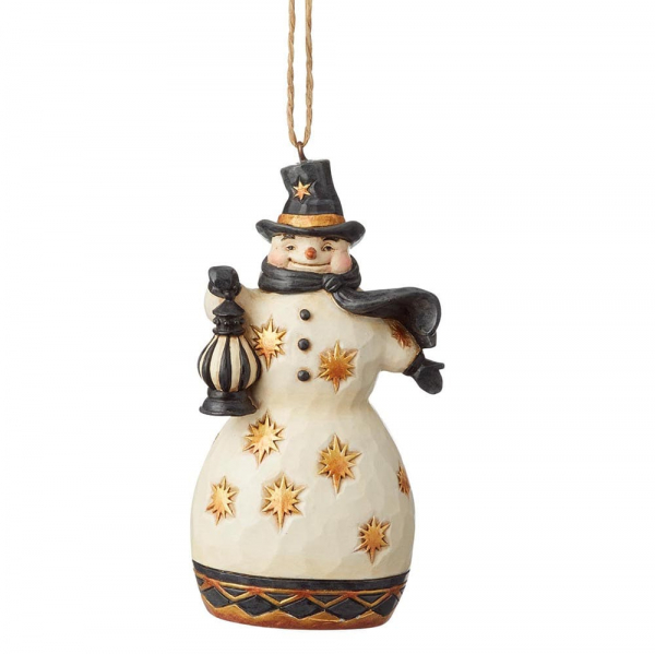 Heartwood Creek, Jim Shore, Black & Gold Snowman Ornament, Schneemann Anhänger