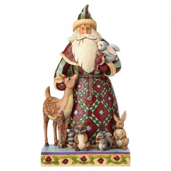 Santa with Woodland Animals - Weihnachtsmann mit Waldtieren