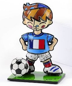 Romero Britto Pop Art aus Miami - Football Player France / Fußballer Frankreich
