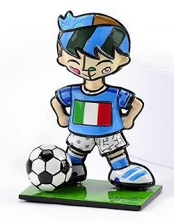Romero Britto Pop Art aus Miami - Football Player Italy / Fußballspieler Italien