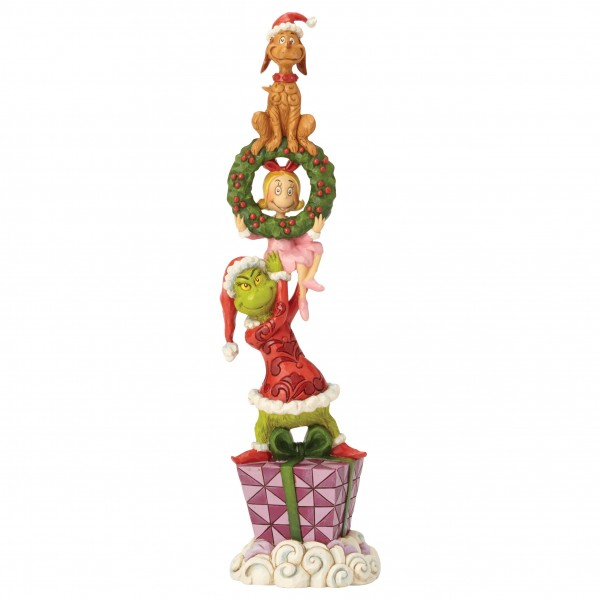 The Grinch, Der Grinch, Jim Shore, Stacked Grinch Characters Figurine, Grinch Stapelfigur