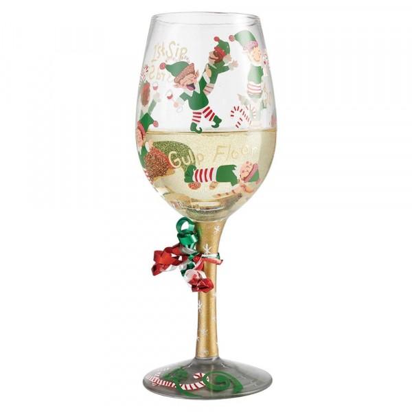 Lolita, Weinglas, Lolita Weingläser, Lolita Gläser, Weinglas, Stuck Santa Wine Glass, Tipsy Elf Wine Glass, 6002983