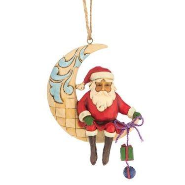 Heartwood Creek, Jim Shore, Crescent Moon Santa Ornament, Weihnachtsmann im Mond, Anhänger