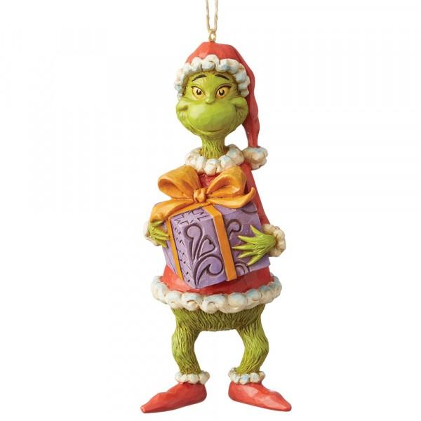 Grinch Holding Present Ornament / Grinch mit Geschenk Anhänger