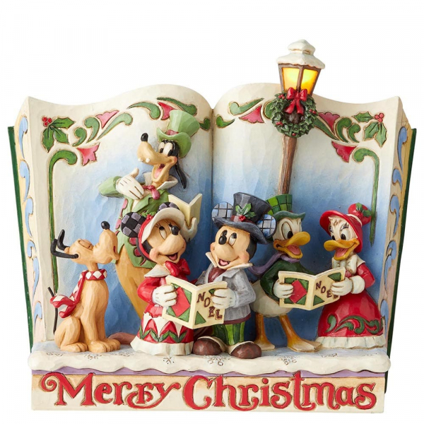 Disney Traditions, Jim Shore, Merry Christmas - Christmas Carol Storybook / Frohe Weihnachten Storybook, beleuchtet