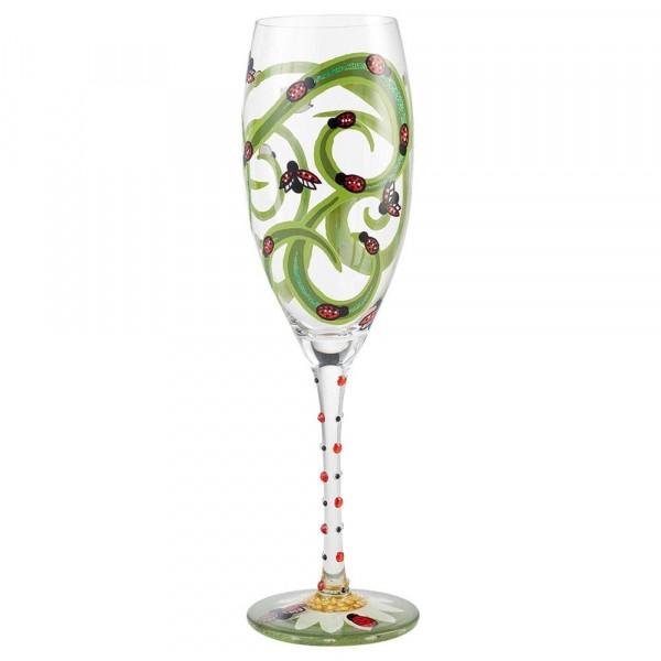 Lolita Sektglas / Prosecco Glas - Ladybug / Marienkäfer
