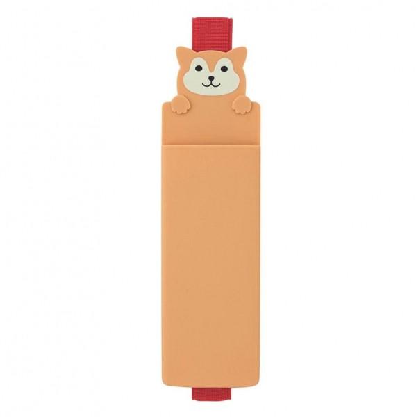 Lihit Lab, Punilabo, Dog Book Band Pen Case, Hund Katze Stifteetui mit Buchband