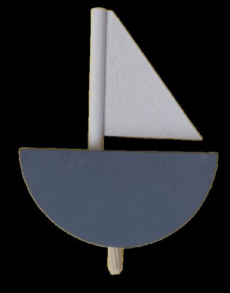 Sebastian Design, Candlering, Kerzenring, Skandinavischer Holzkranz, Skandinavische Kerzenringe, Segelschiff, grau, 46-549-125