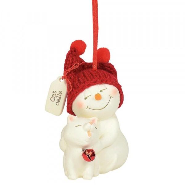 Kristi Jensen Piero, Snowpinions, Snowbabies, Department 56, Cat Calls Ornament, Anhänger, Schneemann, 6004273
