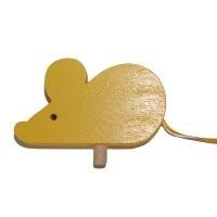 Maus gelb für Kerzenring groß
