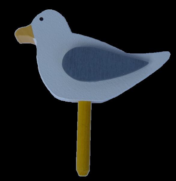 Sebastian Design, Candlering, Kerzenring, Skandinavischer Holzkranz, Skandinavische Kerzenringe, Möwe, weiß/grau, 46-617