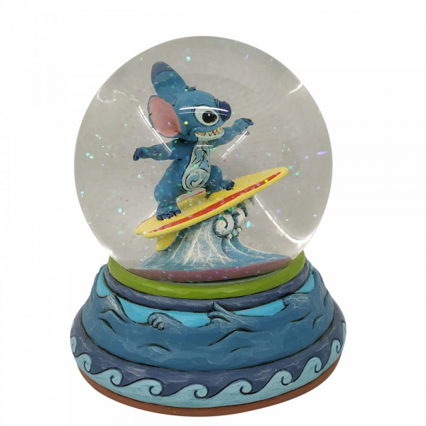 Disney Traditions , Jim Shore, Stitch Waterball, Stitch Schneekugel, Disneyfigur, Disney Figur, Folkart, Volkskunst, 6007085