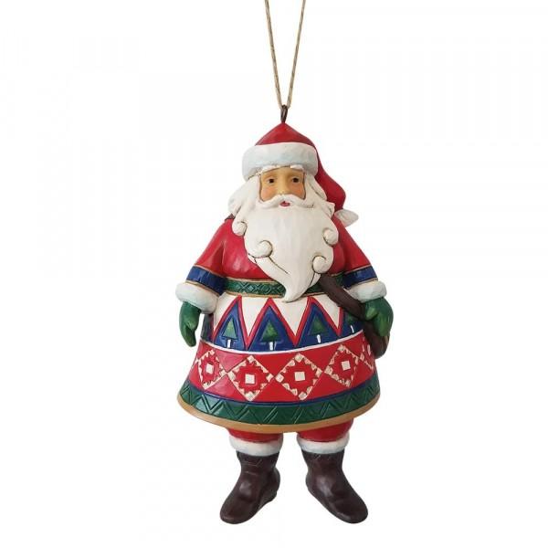Jim Shore, Heartwood Creek, Jim Shore Weihnachten, Holiday Lustre Collection. 6009458, Lapland Santa Ornament, Lapland Weihnachtsmann, Jim Shore Weihnachtsmann, Jim Shore Santa