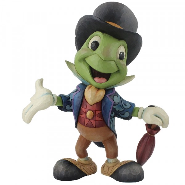 Disney Traditions, Jim Shore - Cricket's The Name, Jiminy Cricket Statement Figurine