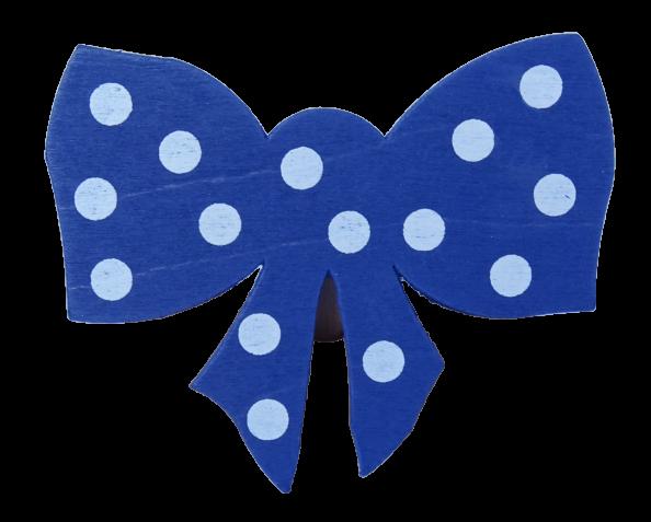 Sebastian Design, Candlering, Kerzenring, Skandinavischer Holzkranz, Skandinavische Kerzenringe, Schleife dunkelblau gepunktet, 46-683-135