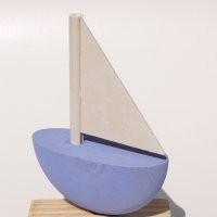 Schiff hellblau für Kerzenring groß