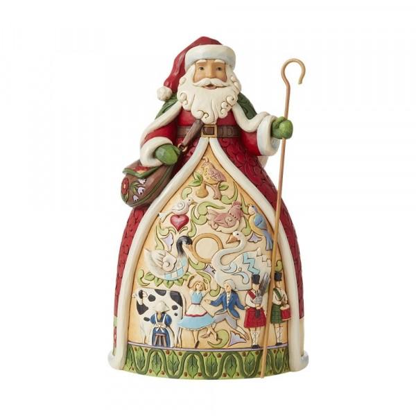 Jim Shore, Heartwood Creek, Jim Shore Weihnachten, 6008876, Twelve Days Santa, 12 Tage vor Weihnachten Weihnachtsmann, Jim Shore Santa, Jim Shore Weihnachtsmann, Heartwood Creek Santa, Heartwood Creek Weihnachtsmann