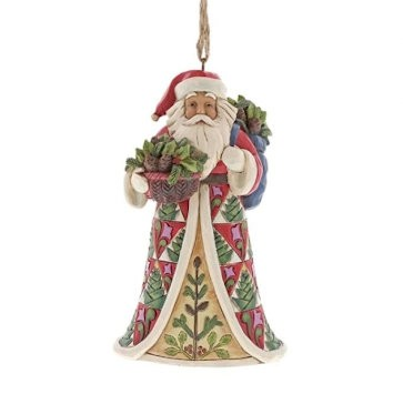 Heartwood Creek, Jim Shore, Pinecone Santa Ornament, Weihnachtsmann, Anhänger
