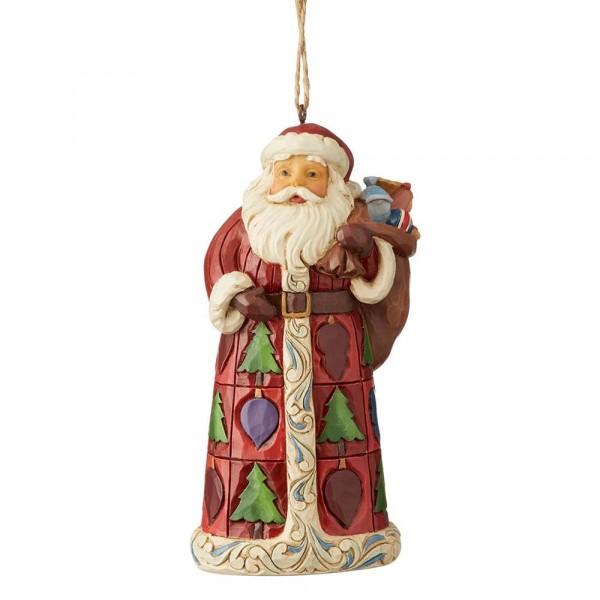 Heartwood Creek, Jim Shore, Santa with Toy Bag, Weihnachtsmann mit Spielzeug-Sack, Ornament, Anhänger