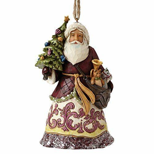 Victorian Santa With Tree