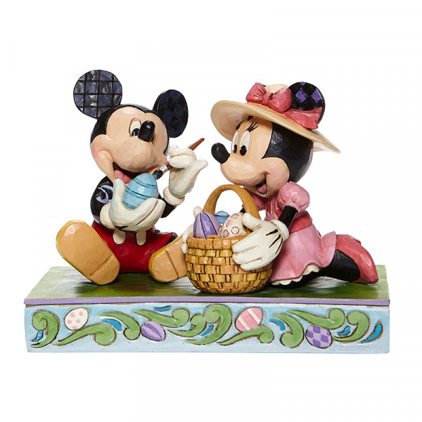 Disney Traditions, Jim Shore, Jim Shore Disney, Jim Shore Disneyfigur, Jim Shore Disney Figur, Easter Artistry, Mickey and Minnie Easter Figurine, Osterkunst, MIcky und Minnie Osterfigur, 6008319